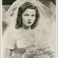 Shirley Temple on Her Wedding Day in 1945
