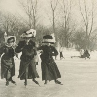 Ice Skating in the Old Days