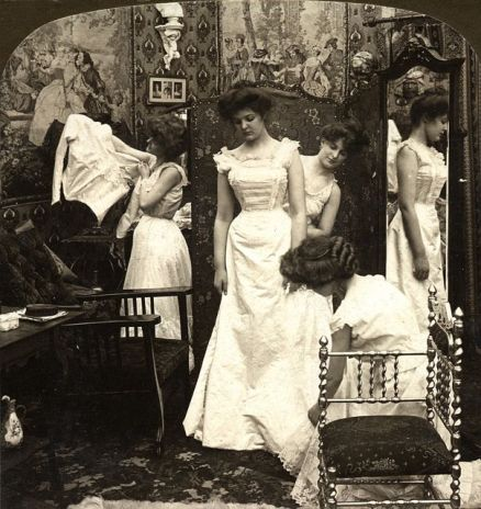 Dressing the bride 1890