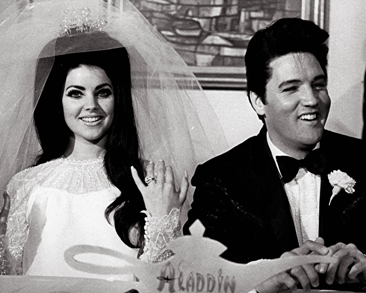 Elvis Presley Priscilla Wagner Wedding May 1 1967 From The Bygone