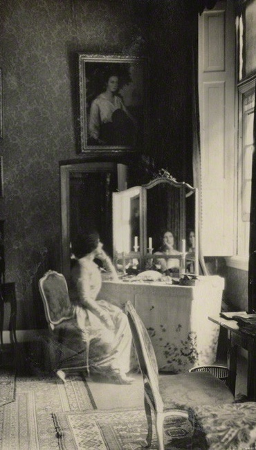NPG Ax142145; Lady Ottoline Morrell ('Mummy in her bedroom at Amerongen') by Lady Ottoline Morrell