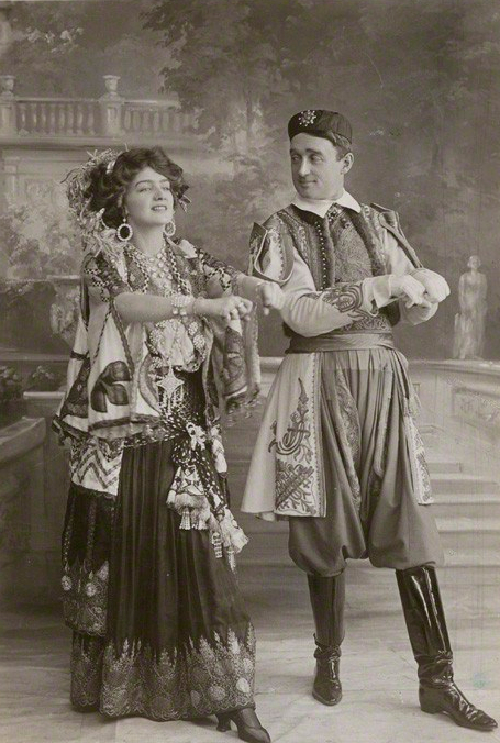 NPG Ax160392; Lily Elsie (Mrs Bullough) as Sonia and Joseph Coyne as Prince Danilo in 'The Merry Widow' by Foulsham & Banfield, published by  Rotary Photographic Co Ltd