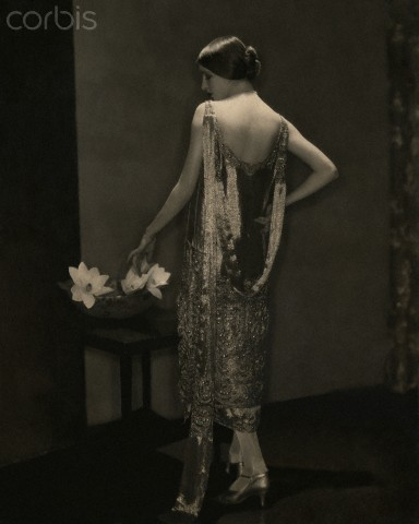 Marion Morehouse in Beaded Chanel Gown