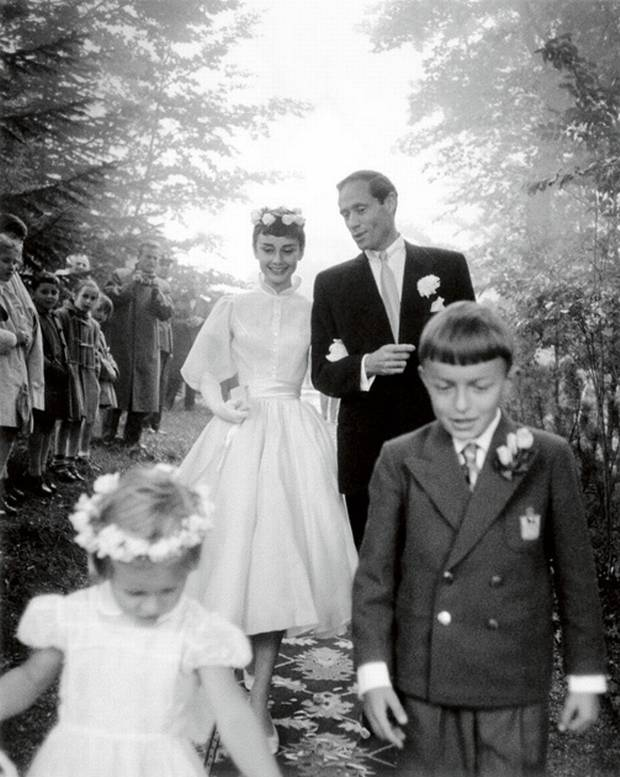 Audrey Hepburn and Mel Ferrer Wedding (1954) | FROM THE BYGONE