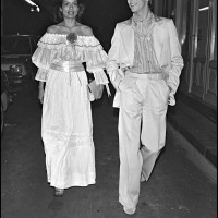 Bianca Jagger and David Bowie in Paris (1977)