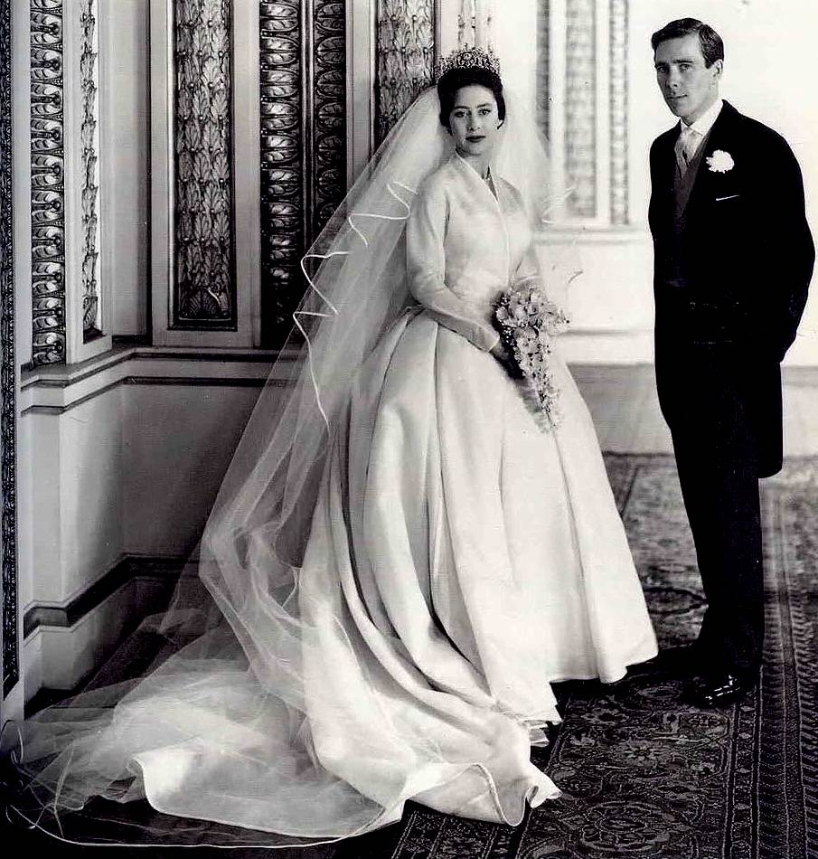 Princess Margaret Anthony Armstrong Jones Wedding Day 1960