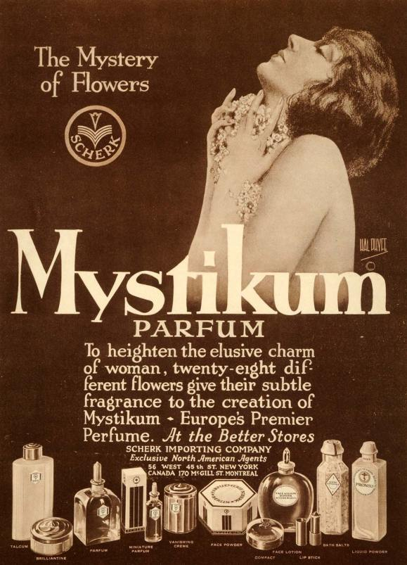 Mystikum perfume ad photo - c1925