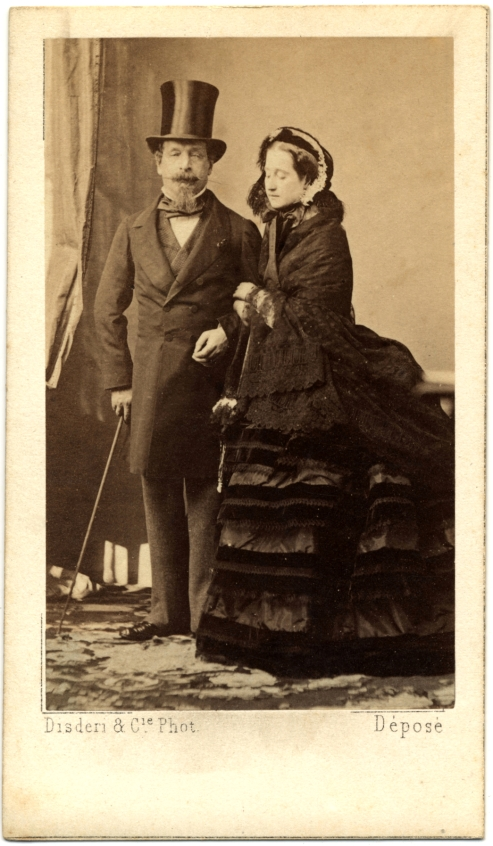 Napoléon_III_and_his_wife_Eugenie,_CDV_by_Disderi,_c1865