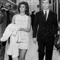 Raquel Welch & Patrick Curtis 1967 Paris Wedding