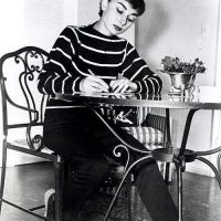 Audrey Hepburn at her Beverly Hills Apartment (1953)