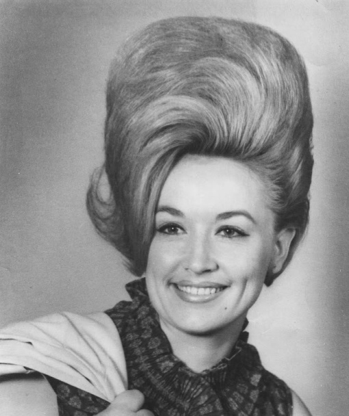 Entertainer Dolly Parton in a 1968 publicity photo for Monument Records and Moeller Talent.