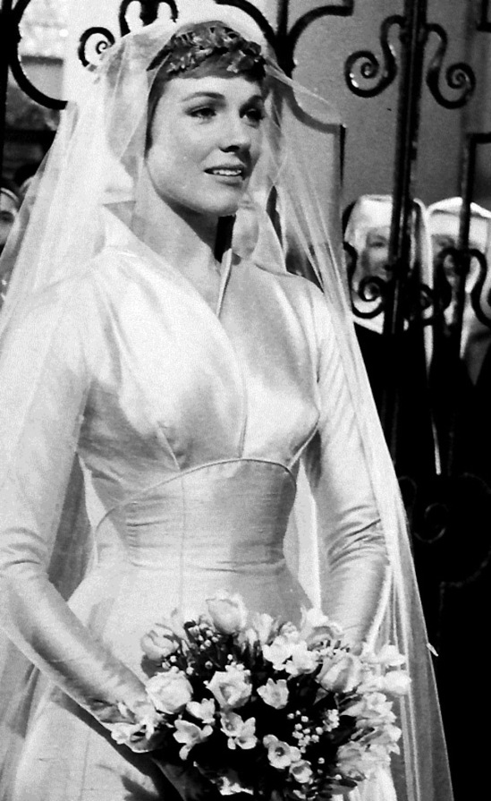Maria\'s Wedding Dress: Julie Andrews in The Sound of Music (1965 ...