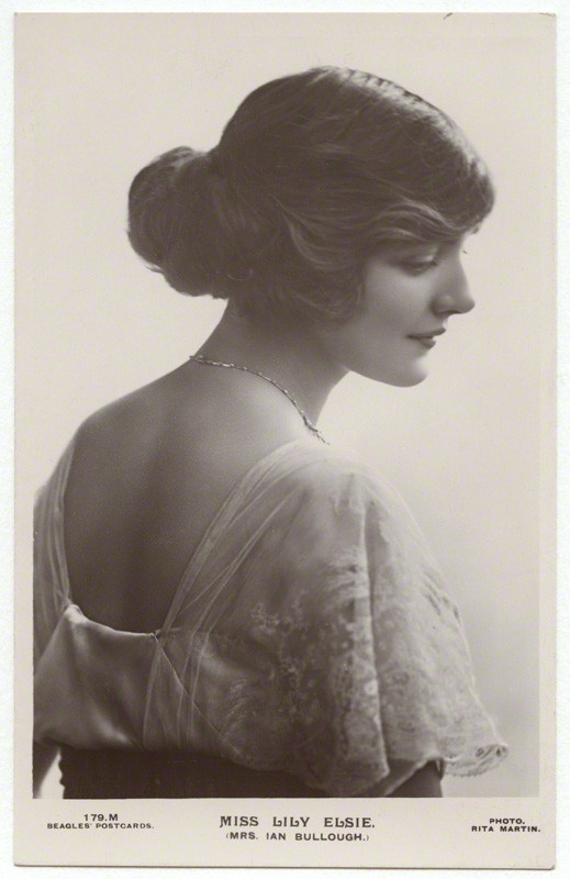 NPG x131528; Lily Elsie (Mrs Bullough) by Rita Martin, published by  J. Beagles & Co