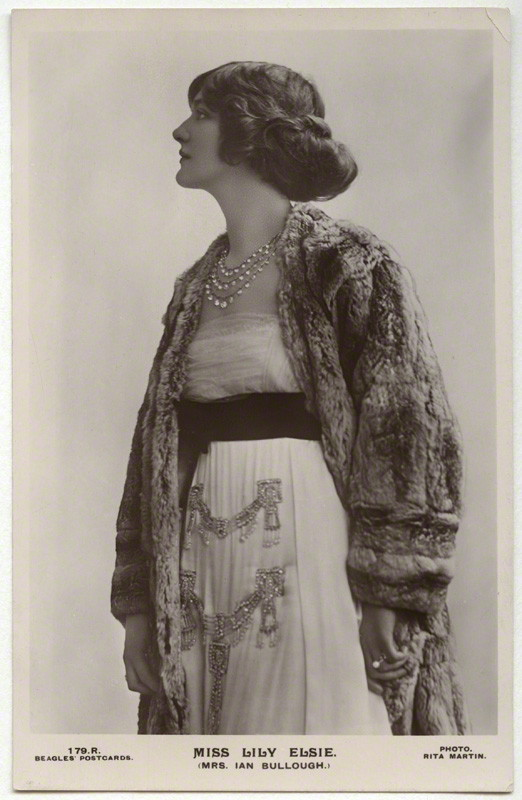 NPG x131530; Lily Elsie (Mrs Bullough) by Rita Martin, published by  J. Beagles & Co