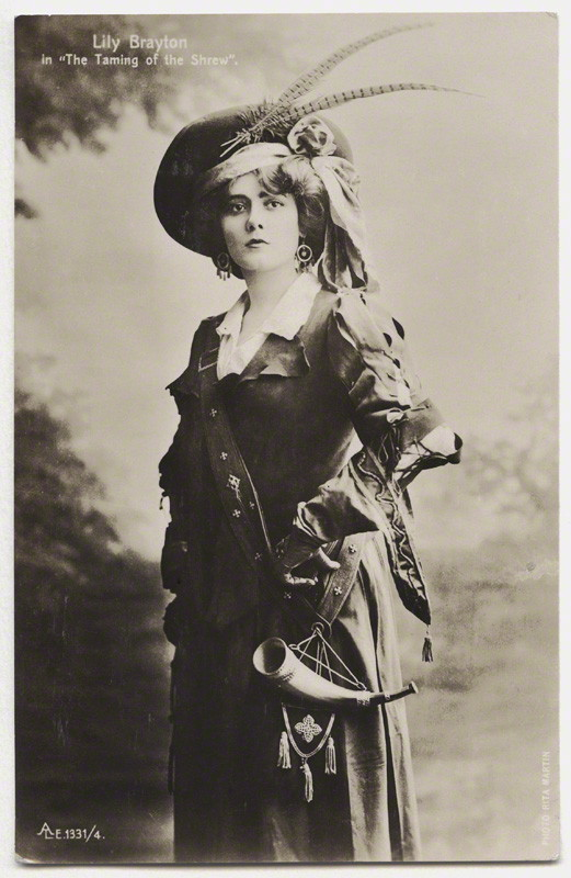 NPG x131451; Lily Brayton as Katherine in 'The Taming of the Shrew' by Rita Martin, published by  Aristophot Co Ltd