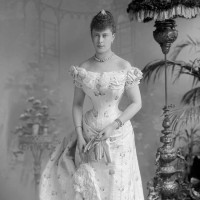 Wonderful Portrait of Queen Mary of Teck Prior to Royal Wedding (1893)