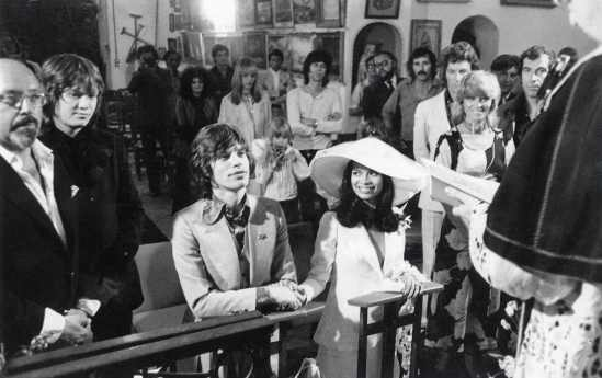 bianca+ mick jagger wedding1