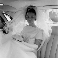 Henrietta Tiarks, the Duchess of Bedford, Wedding Day (1961)