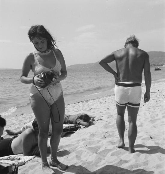 Photograph of Dora Maar and Pablo Picasso on the beach September 1937 by Eileen Agar 1899-1991