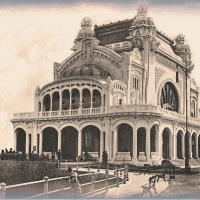"Vintage Photos of Romanian Art Nouveau Building ""Constanta Casino"""