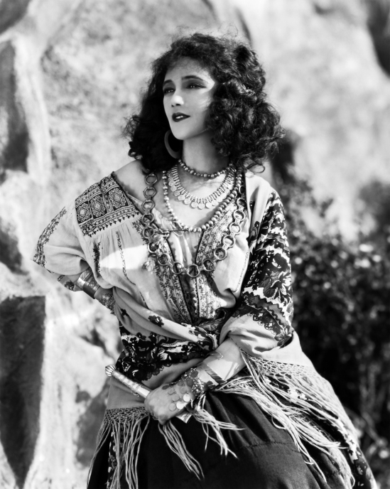 Actress Jetta Goudal as a Gypsy