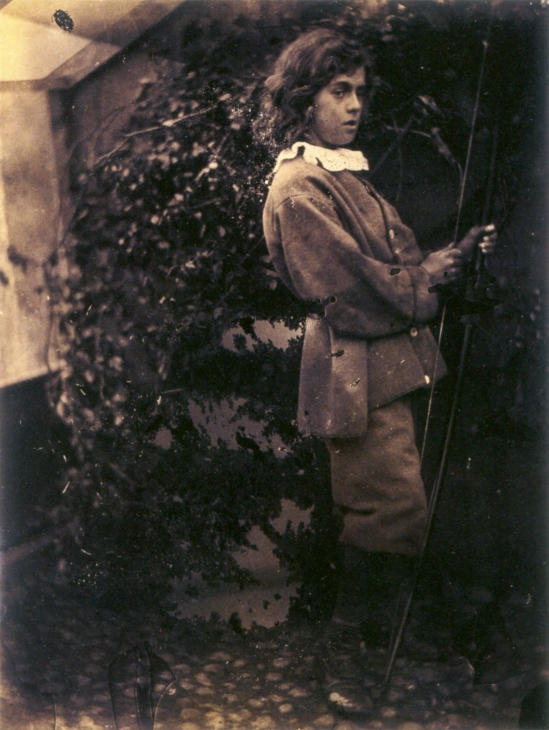 Lionel_Tennyson_with_bow_&_arrow,_by_Julia_Margaret_Cameron